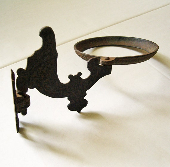 Wall Mounted Oil Lamp Holder : Antique Oil Lamp Holder Swivel Bracket with Wall by fancifulanne