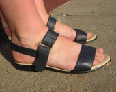 90's 7M Leather Strappy Sandals