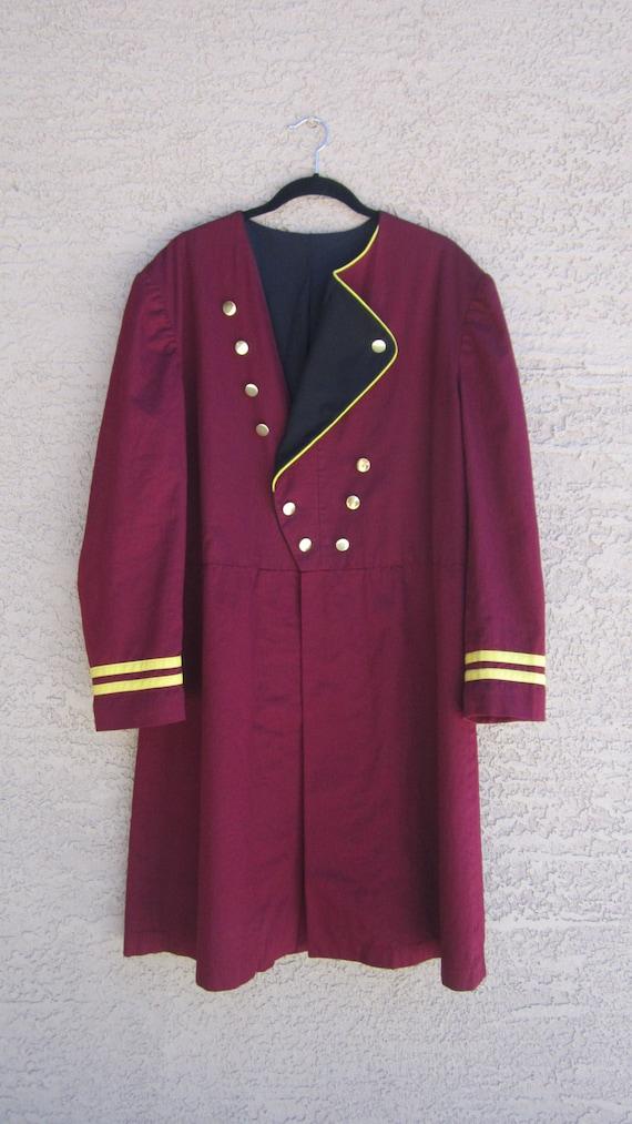 Disney Hollywood Tower Hotel Bellhop Doorman Uniform Coat