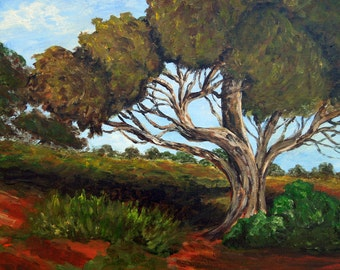 "Tree painting is an original, 12""x 16"" acrylic on canvas"