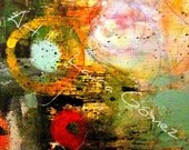 Listing Reserved for Eduardo I Finally Found You II-Print of Original Art by Laura Gomez -Abstract-Modern-Contemporary-Industrial Art