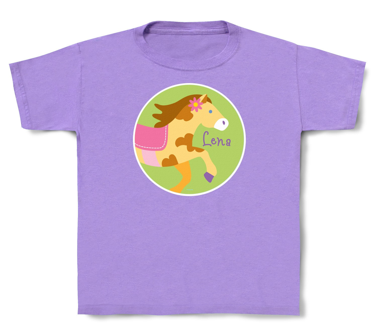 Personalized kids pony t shirt cotton toddler for Custom cotton t shirts