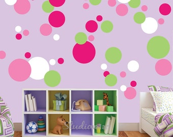REUSABLE Circle Decals - Reusable Circle Wall Decals - SK314SWA