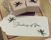 Cupid's Arrow Rubber Stamp Pair