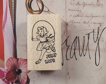 I Love Jumping Rope Rubber Stamp