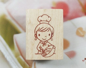 Happy Bakery A Rubber Stamp