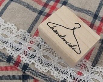 Handmade Label Coat Hanger Rubber Stamp