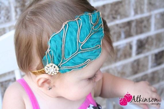 Dark Teal Chiffon Leaf Pad - Newborn/Infant/Toddler/Adult- Photo Prop