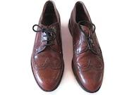 Italian Wingtip Shoes, Men's European Size 41, Leather Soles