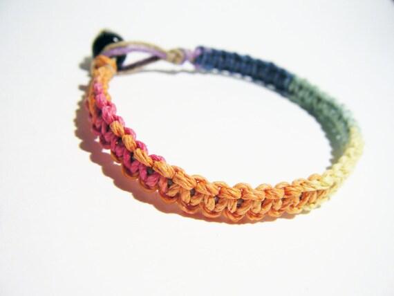 ONE DAY SALE Rainbow Hemp Bracelet