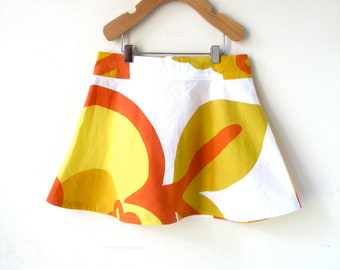Girls Marimekko Skirt 4T - Orange and Yellow