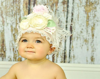 First Birthday Crown - Party Hat - Photo Prop -  Couture Crown - Princess Dress Up - Birthday Hat