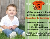 Football Jersey Birthday Invitation with Photo Pick Your Own Jersey Color to Match Any NFL or College Team Print Your Own 5x7 or 4x6