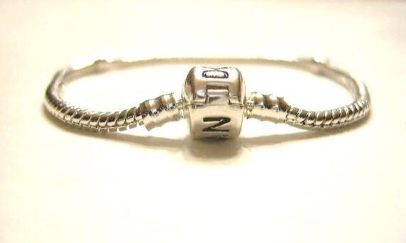 8 inch, Silver Plated, Empty, Charm Bracelet  QTY. 1