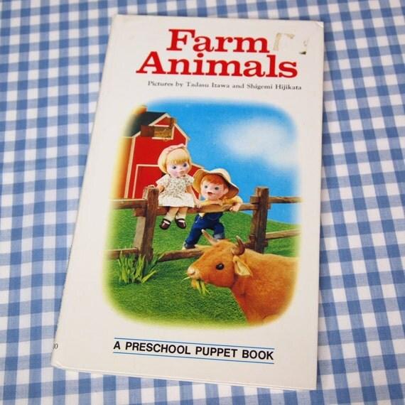 farm animals, vintage 1973 children's book