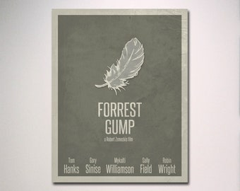 Forrest Gump Minimalist Movie Poster / Movie Room Art / Media Room Art / Minimal Poster
