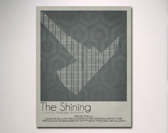 The Shining Minimalist Movie Poster / Multiple Sizes Available / Wall Art / Statement Art
