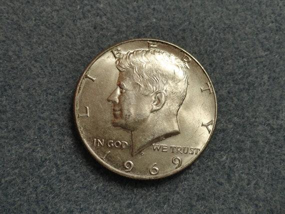 1969-D Kennedy SILVER Half Dollar- 40% Silver.