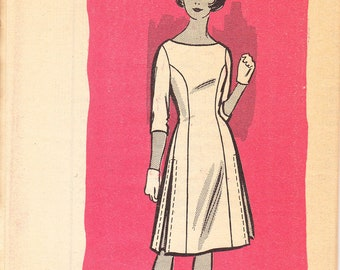 1960's Sewing Pattern Mail Order Marian Martin 9119 teen or misses princess dress size 12