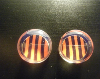 00 Gauge Red and Black Striped Plugs
