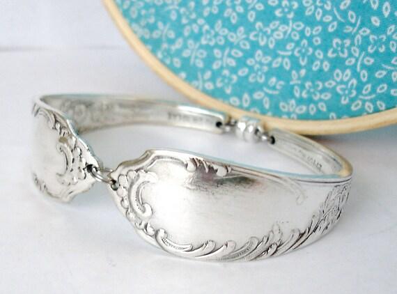 Spoon Bracelet, Large Size, Floral