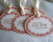 A True Love Story Never Ends -  Wedding Gift or Wish Tree Tags