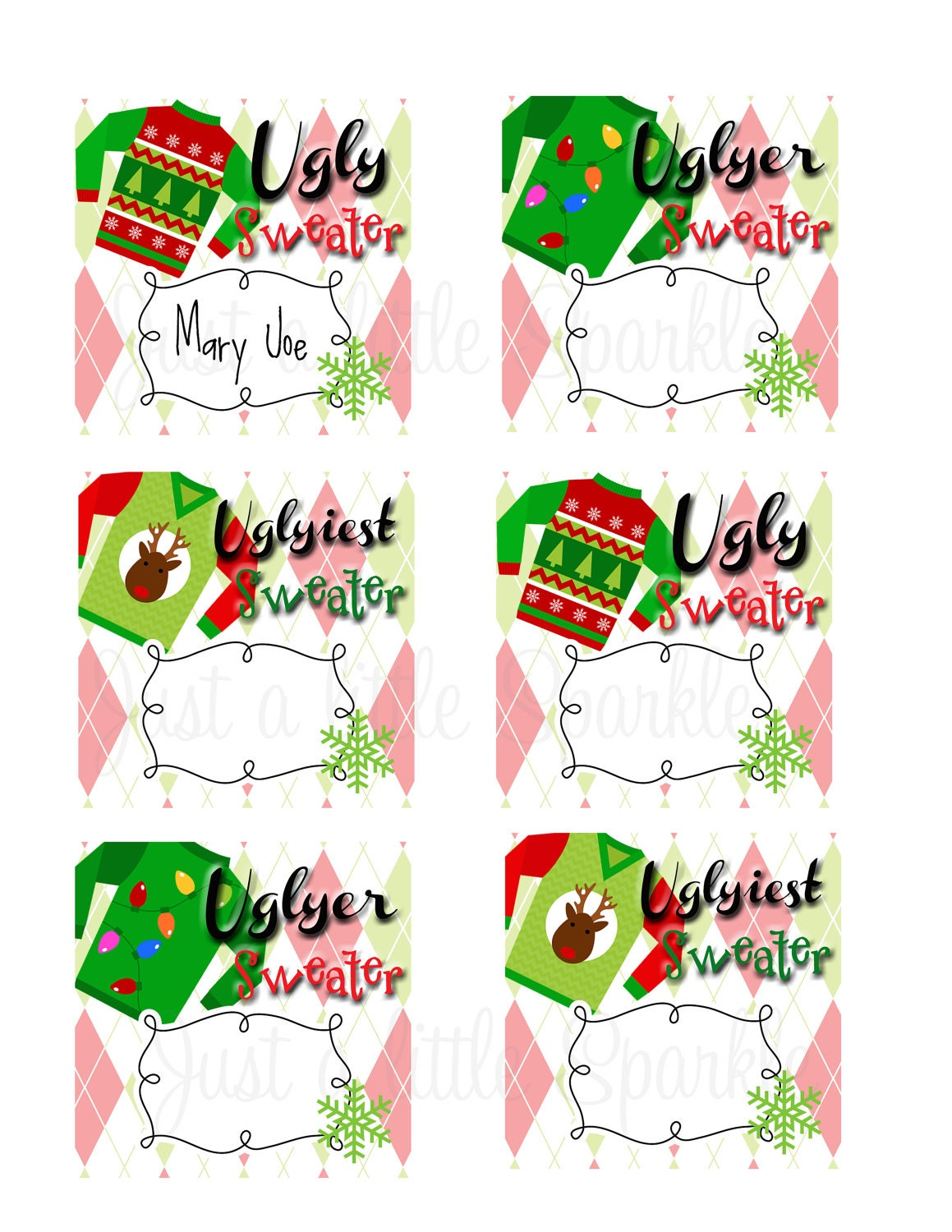 ugly christmas sweaters voting ballots | just b.CAUSE