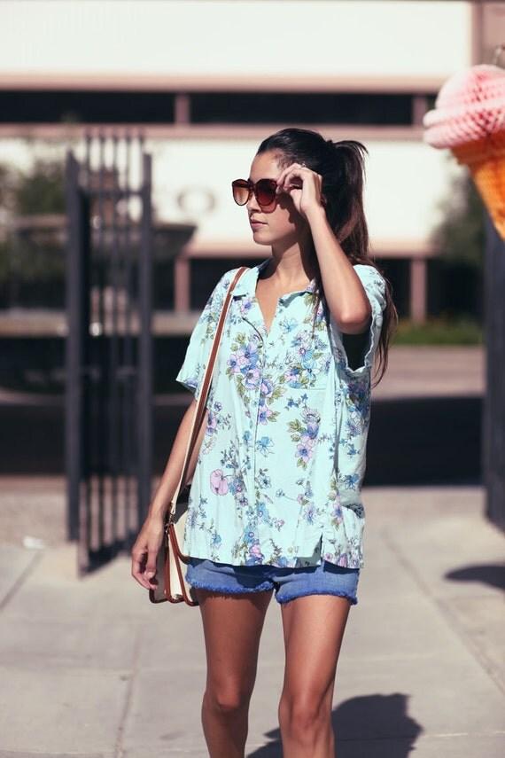 Floral Print Button Up Summer Shirt - Petal Away
