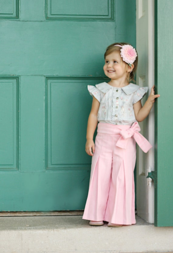 Whitney Trousers & Skirt PDF Pattern and Tutorial, All sizes 2- 10 years included