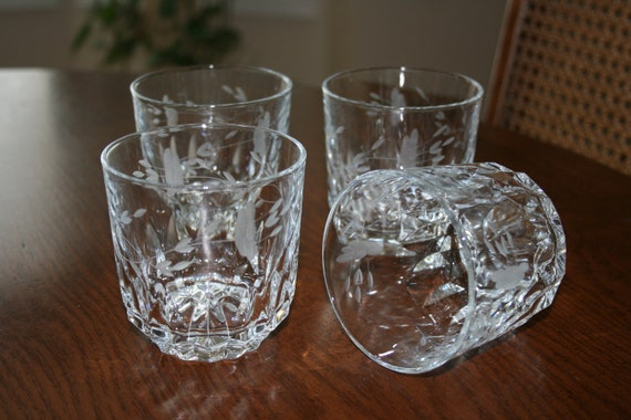 Vintage Princess House Crystal Double Old Fashion Glasses Set