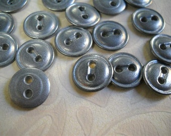 Lot of 20 Small- Metal Button- Two Holes- 12mm