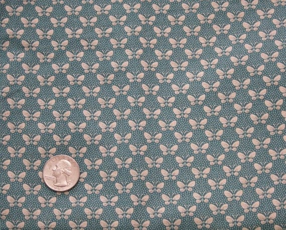 Vintage Butterfly Cotton Fabric, 1 yard