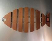 Trivet from Denmark. Teak Fish.
