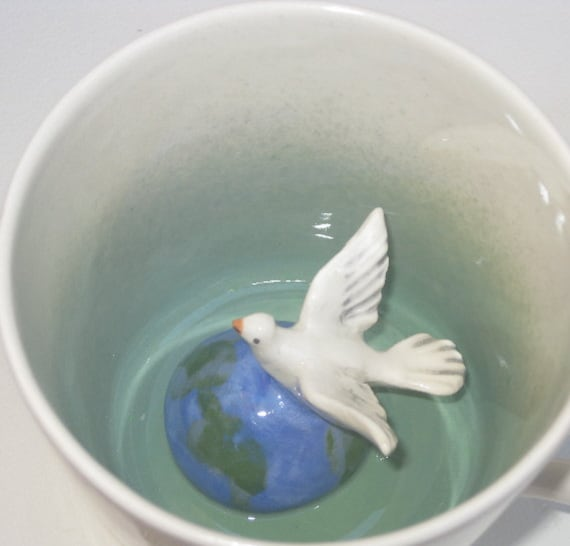 Peace Dove Surprise Mug (Made to Order)