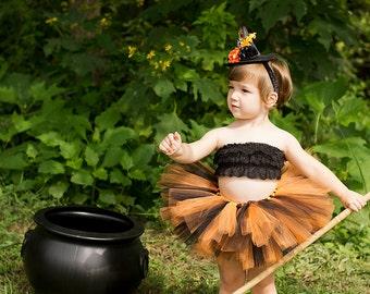 Baby Girl Halloween Costume Black And Orange Tutu Halloween Tutu And Witch Hat Baby Witch Costume Baby Girl Tutu Baby Girl Witch Costume