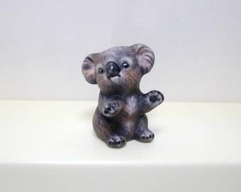 Koala, miniature ceramic baby koala