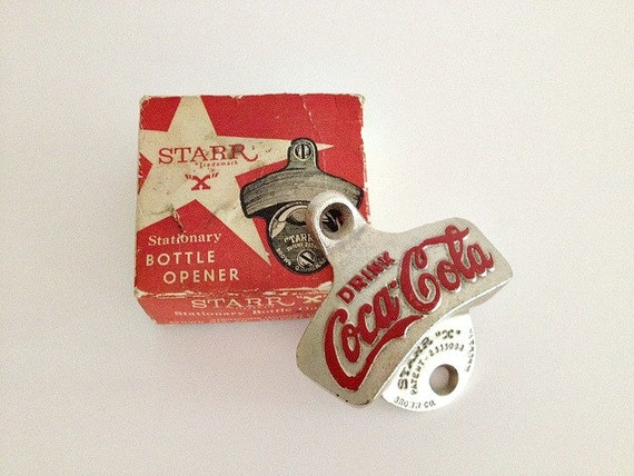 coca cola starr x bottle opener with box. Black Bedroom Furniture Sets. Home Design Ideas
