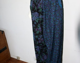 Vintage Early '90s ZACHI Floral Baggy High Waisted Harem Boyfriend Trouser Pants