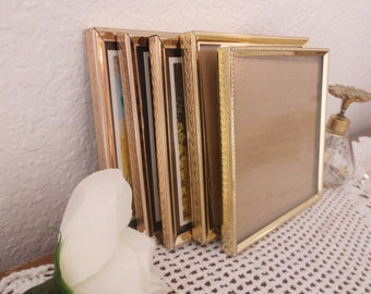Vintage Gold Metal Frame Collection Set 5 x 5 Wedding Table Number Decoration Paris Shabby Chic Cottage French Country Farmhouse Home Decor