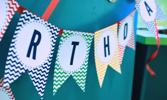 SESAME STREET Inspired Birthday - Printable Happy Birthday Banner - Libby Lane Press