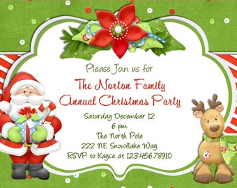 Christmas Party Invitation, Christmas, Holiday Party, Christmas Holiday Invitation Christmas Invite, Printable Party Invitation