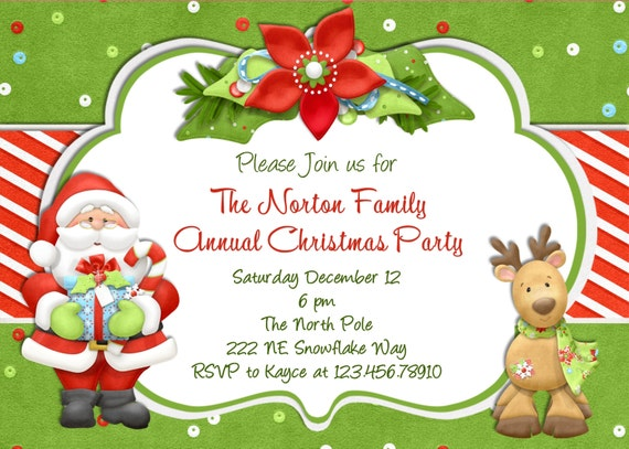 christmas party invitation christmas holiday party, Party invitations