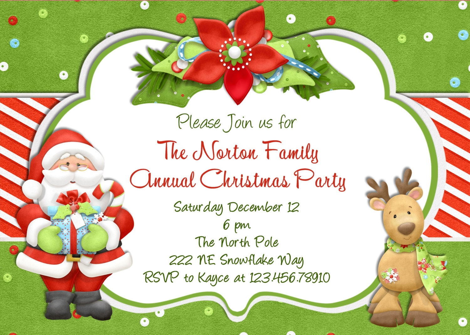 holiday luncheon invitation templates