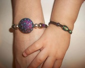 Mother and Son Bracelet Set (Round Bead)