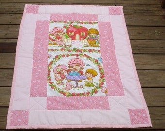 Vintage Strawberry Shortcake Quilt/Wall Hanging