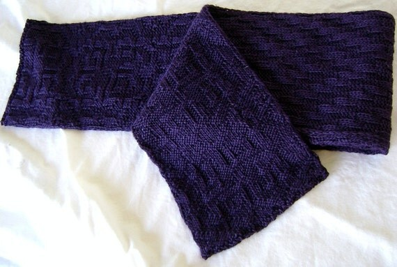 The Draw rugby scarf knitting pattern
