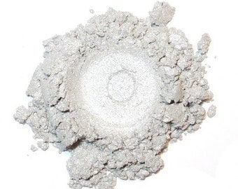 Mineral Eye Shadow SOLAR FLARE 3 Grams or 5 grams - Metallic Silver White