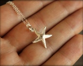 Starfish Necklace in Sterling Silver
