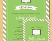 Book Collection Baby Shower Bookplate Printable