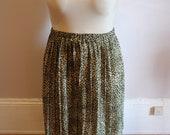 VTG Plus Size Leopard Print Pleated skirt- 14-16 XL 1x